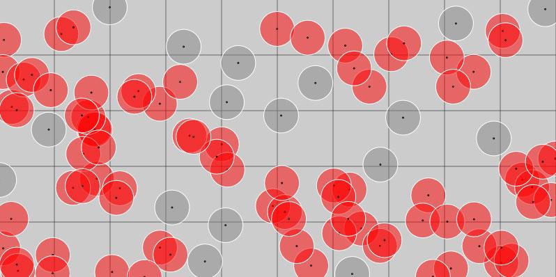 グリッドを用いた衝突判定画像